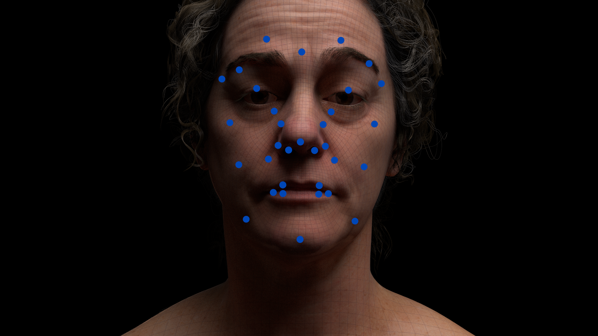 FACS-based facial rigs / Multiple levels of detail / Blendshapes Joints or a Hybrid / Rig on or off face