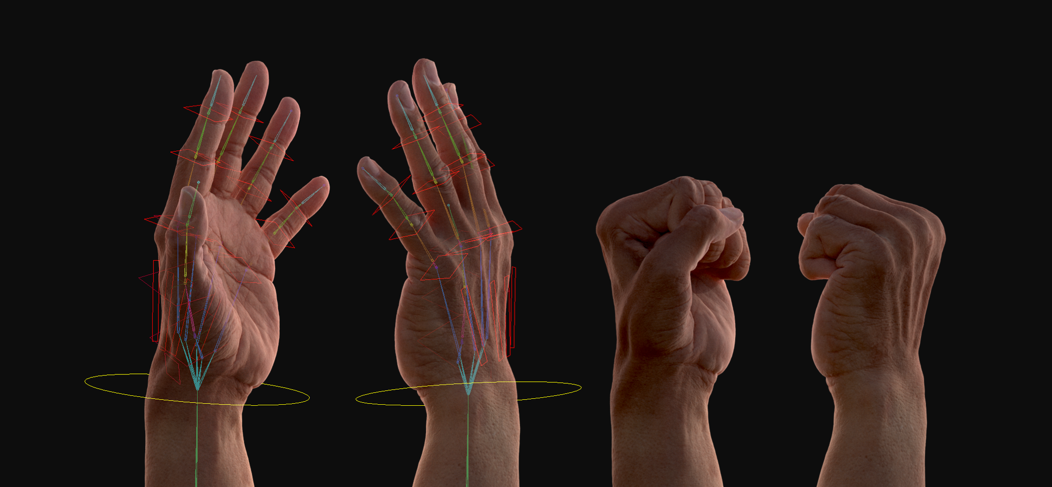 Parametric hand model / Offline and real-time renderer support