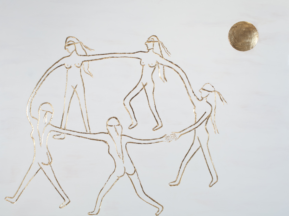 DANCING WITH GOLD MOON | SOLD