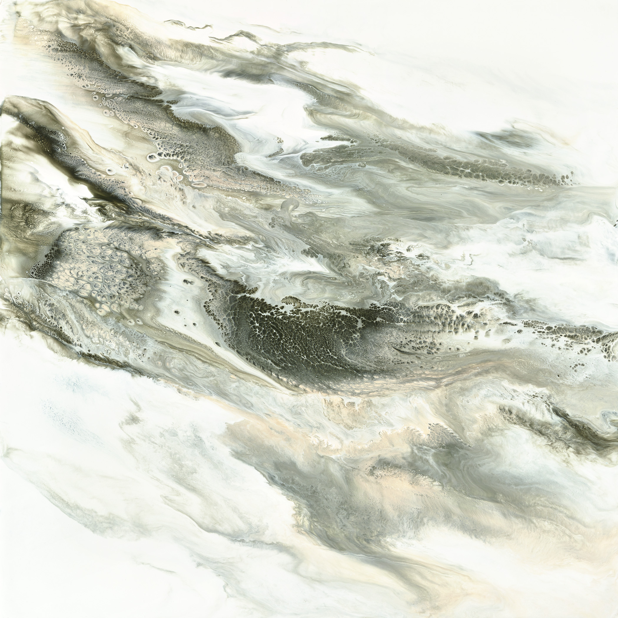 "PULLING THE FOG | ENCAUSTIC | 24""x24"" 