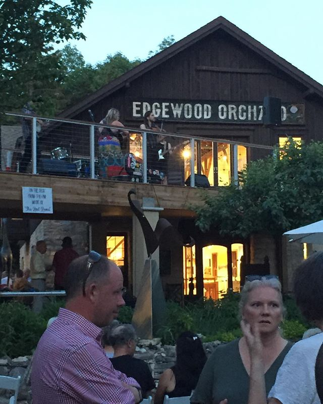 "Edgewood orchard gallery. Door county WI. 50 years strong. Bucket list this.  Fun nite honoring an amazing venue who beholds American made as a ""have to have""#american made# art in door county WI #bucket list"