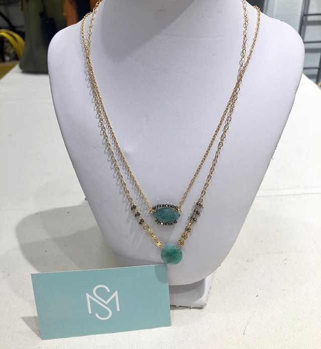 Green with envy... we love the new emerald from Calliope.  Come visit us at @stylemax in booth #8056.  #stylemax #americanmade #jewelry #boutique #shopsmall @calliopejewelry