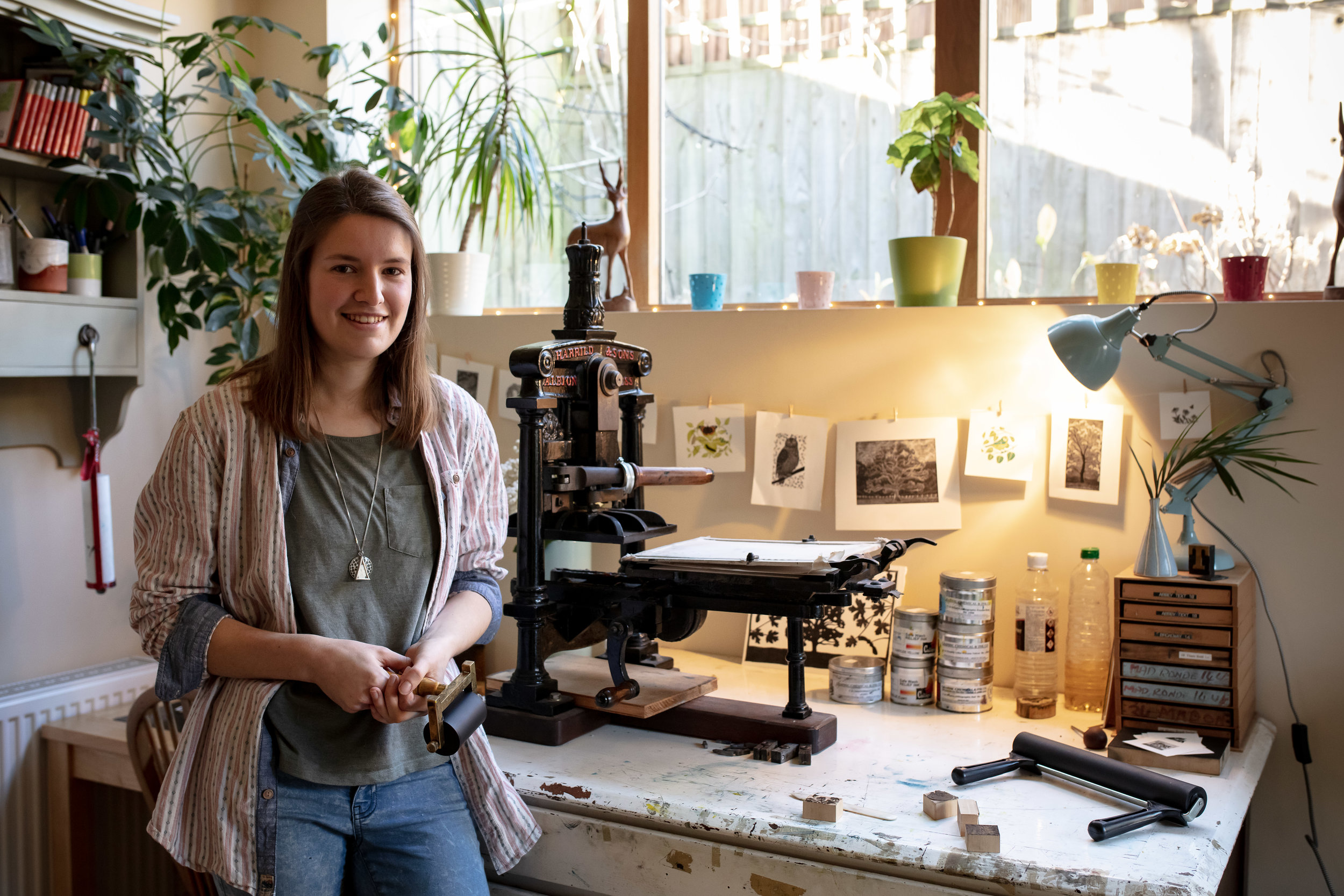Photograph of Molly and her PRESS : PHOTOGRAPH TAKEN BY PAUL GROOM PHOTOGRAPHY FOR ISSUE 6 OF PRESSING MATTERS MAG