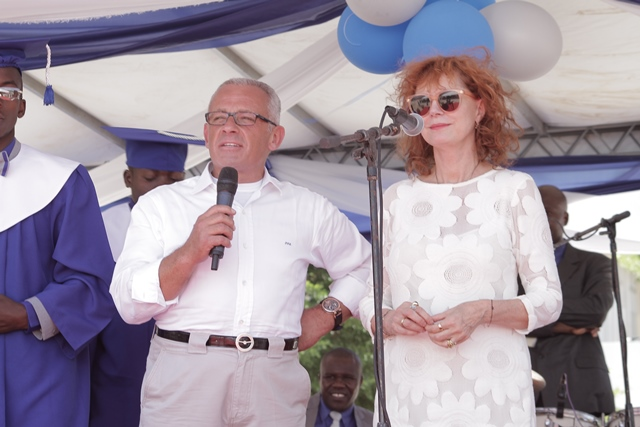 Graduation Godparents Susan Sarandon and Pascal Raffy share inspired words and congratulations with the graduates.
