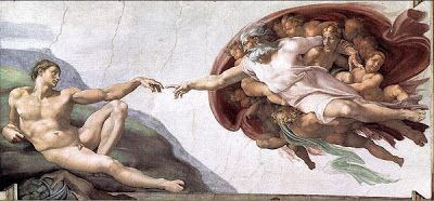 *Michelangelo, The Creation of Adam, Sistine Chapel, The Vatican, 1512