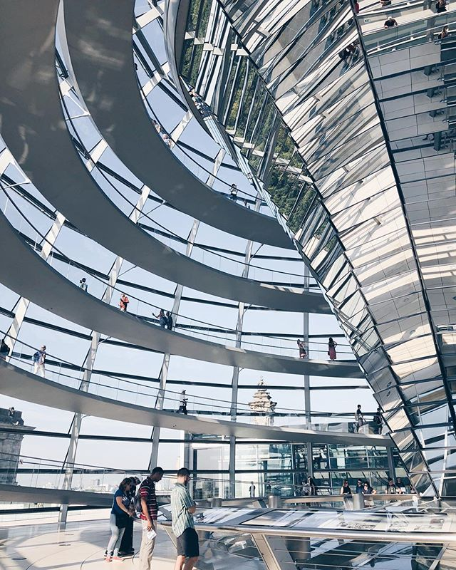 """If knowledge is a bank and imagination the currency, the ultimate future investment is experience"" - Kieran Stanley  What an experience it was to travel through Berlin, especially walking through the Reichstag Dome designed by Norman Foster."