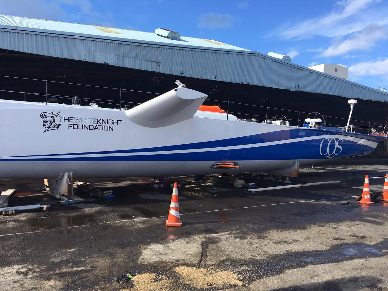 CQS in situ at Tauranga. Wings protruding.