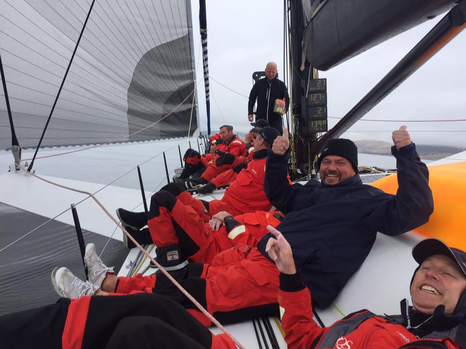 Heading up the Derwent to the finish line, Sydney to Hobart 2016