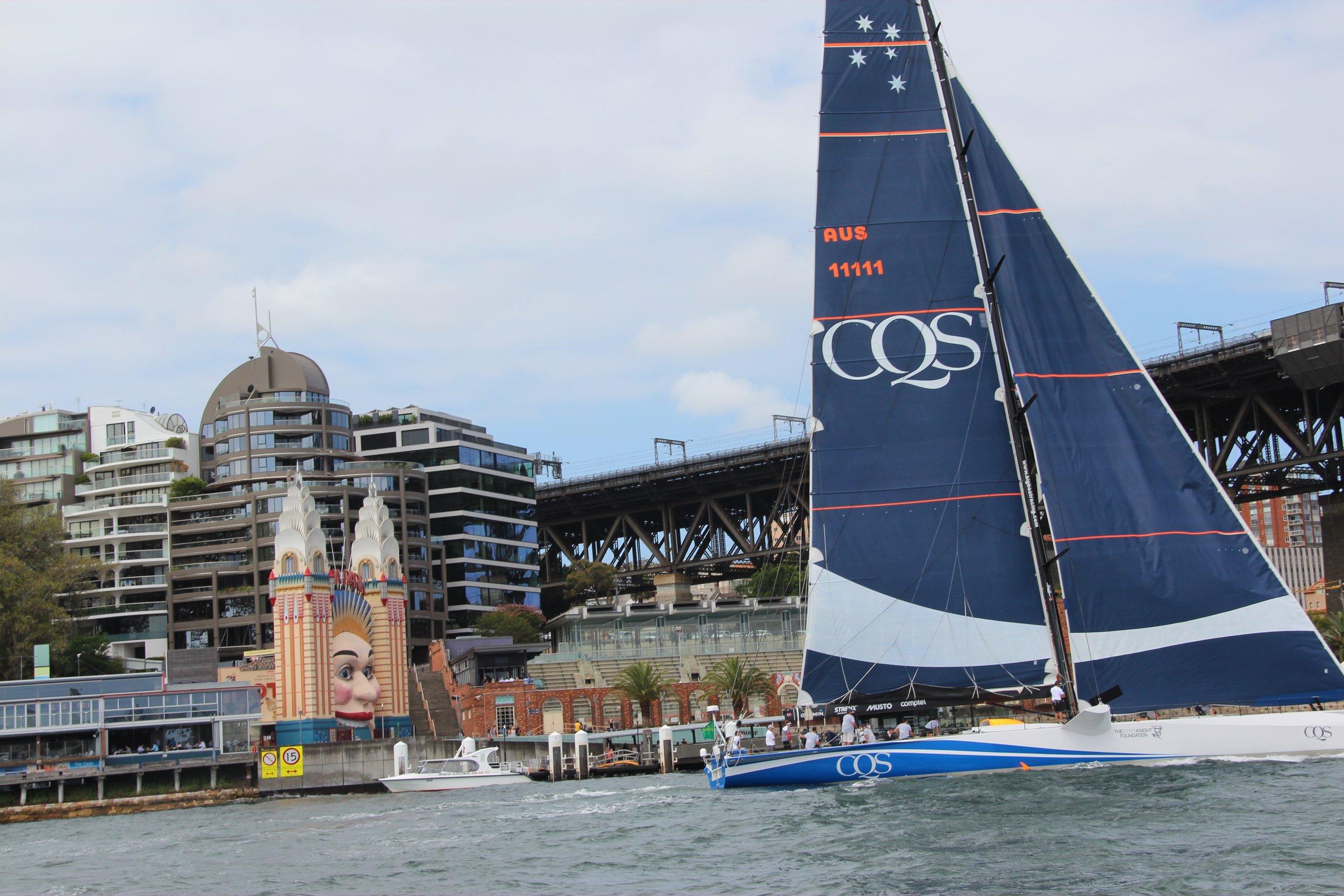 CQS training on Sydney Harbour