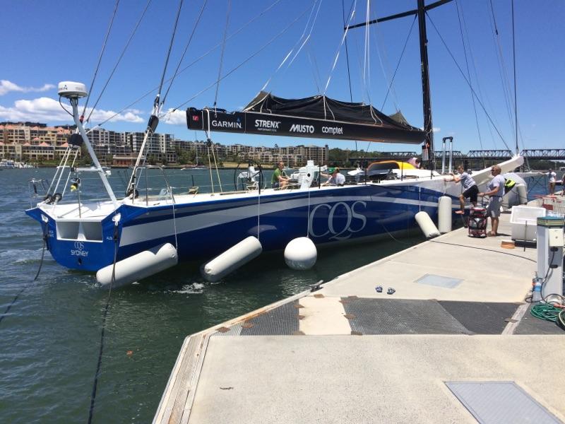 CQS arrives in Sydney, Birkenhead Marina