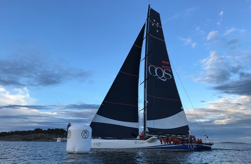 The 100-foot maxi CQS sets a new ÅF Offshore Race record © Camilla Bolinder