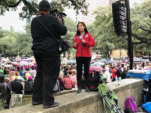 Our very own Rose-Ann Aragon covered the Women's March in Houston on Saturday! #womensmarch