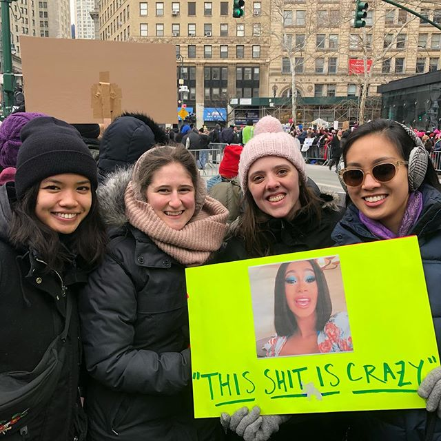 #womensunityrally @womensmarchnyc @ocasio2018