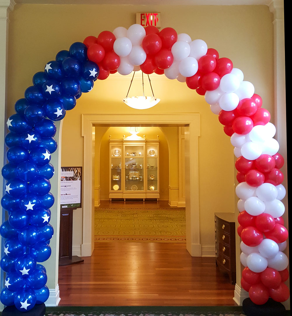 Flag Themed Balloon Arch