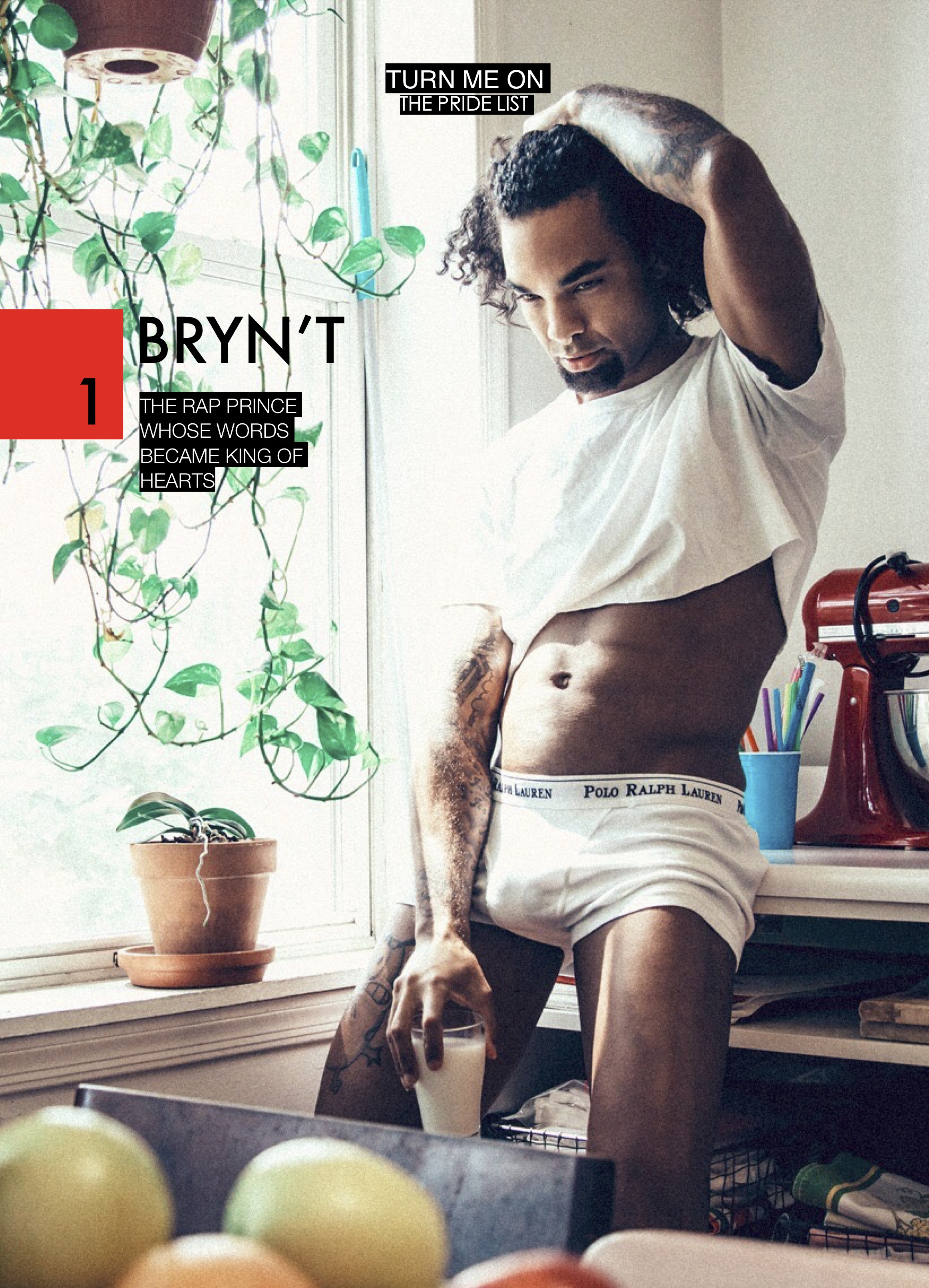 """BRYN'T X DBQ Magazine   Top 3 songs on your playlist this Summer?  Medino Green - """"Good Dick"""" featuring Bry'Nt  Beyoncé & Jay-Z - """"APESH*T""""  Tory Lanez - """"Leaning"""" featuring PartyNextDoor    Personal favorite pride to attend?  It's a tie between D.C. and Detroit Pride, which have been the most turnt up Prides that I've attended. A close runner-up is New York Pride because it was my first one. Honorable Mention goes to Dominican Republic's Inferno.   What's your favorite thing to do on the beach?  Layout with a cold one  Swimming pool or ocean?  Pool  Poetry or a novel?  Novel  Cocktail or a joint?  Cocktail  One thing you want to achieve by the end of the Summer?  I want to release my album """"Bry'Nt Park"""" along with more visuals.   What makes you smile?  Amusement parks, puppies, and sunny days.   Lay on the beach or lay by the pool?  beach  What is something that people should know about your work?  It's the product of blood, sweat, and tears.  When was the best sex of your life this far?  6969-06-09  Who do you want to be the next president?  Anyone that is truly invested in the betterment of humanity. Is Barack Obama an option or nah?  What makes you proud?  I'm proud of the man I am today."""