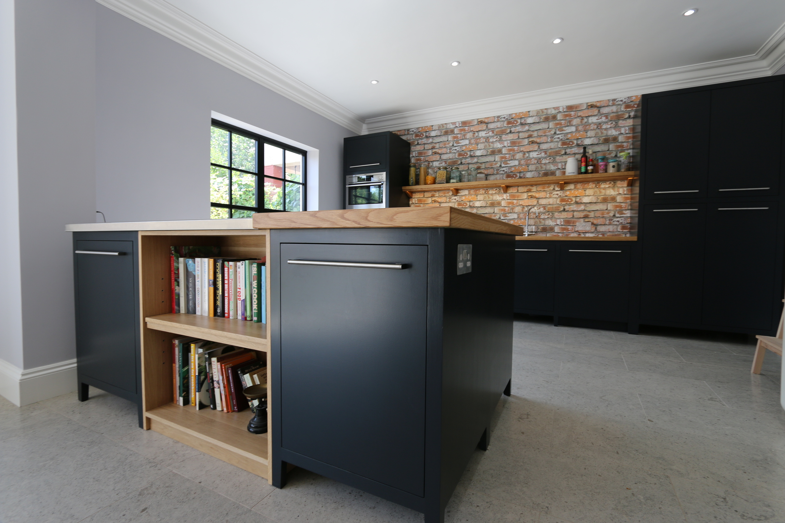 Matt black bespoke modern kitchen