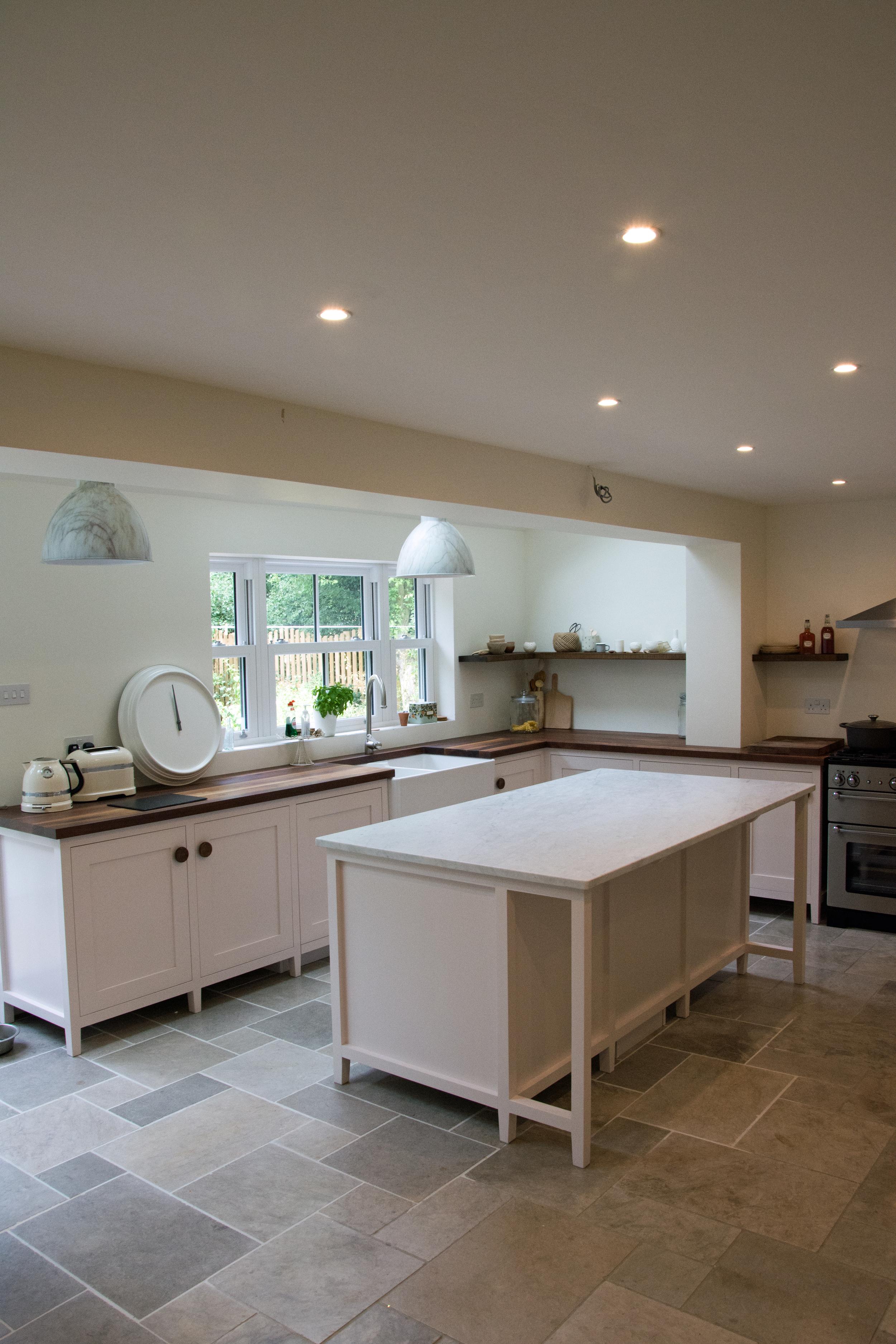 Bespoke shaker style kitchen in Kent