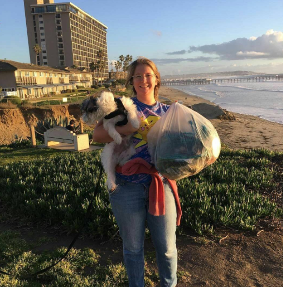 Julia did a beach clean-up & got a pass to work on the Adventure Lab. Julia is Awesome!