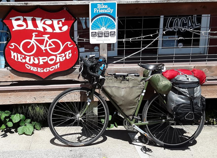 Newport Bike Shop offers tune ups, laundry, a tv lounge and snacks to bikepackers on the Coastal Bike Route