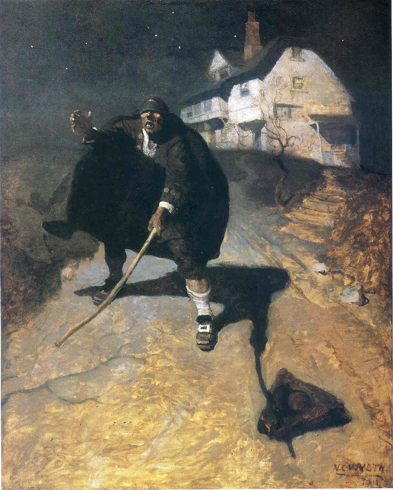 Blind Pew by N.C. Wyeth