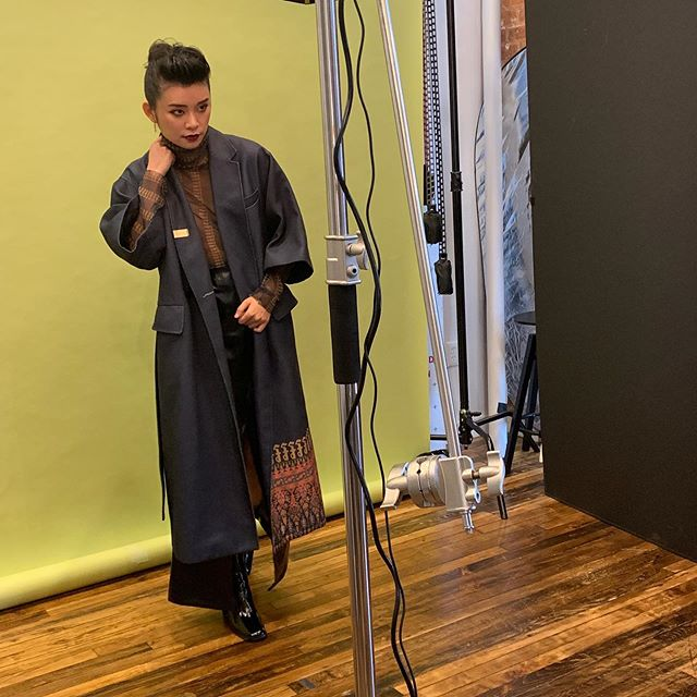 "So stoked! We had guests at the studio shooting for their client, actress Celia Au, for new editorial press images for their current PR campaign tied to her shows ""Wu Assassins"" coming out on Netflix and ""Lodge 49"" on AMC.  Thanks to Persona PR For this bts shot of @itsceliaau. I wish i was there today to greet and say hi to them!!! :(("