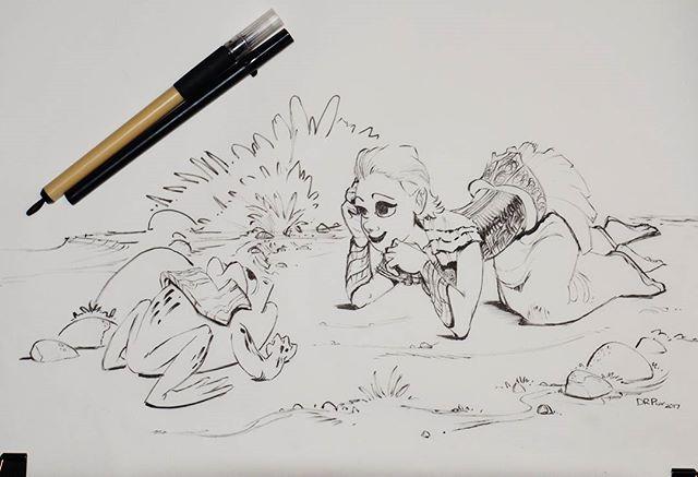 """I think i have a plan."" . . .  #drpicar #frogdrawing #inksketch #inktober #inktober2017 #dailydoodles #dailysketch #dailydrawing #sketcheveryday #visualdevelopment #visdev #artofanimation #sakurapigma #kuretakebrushpen"