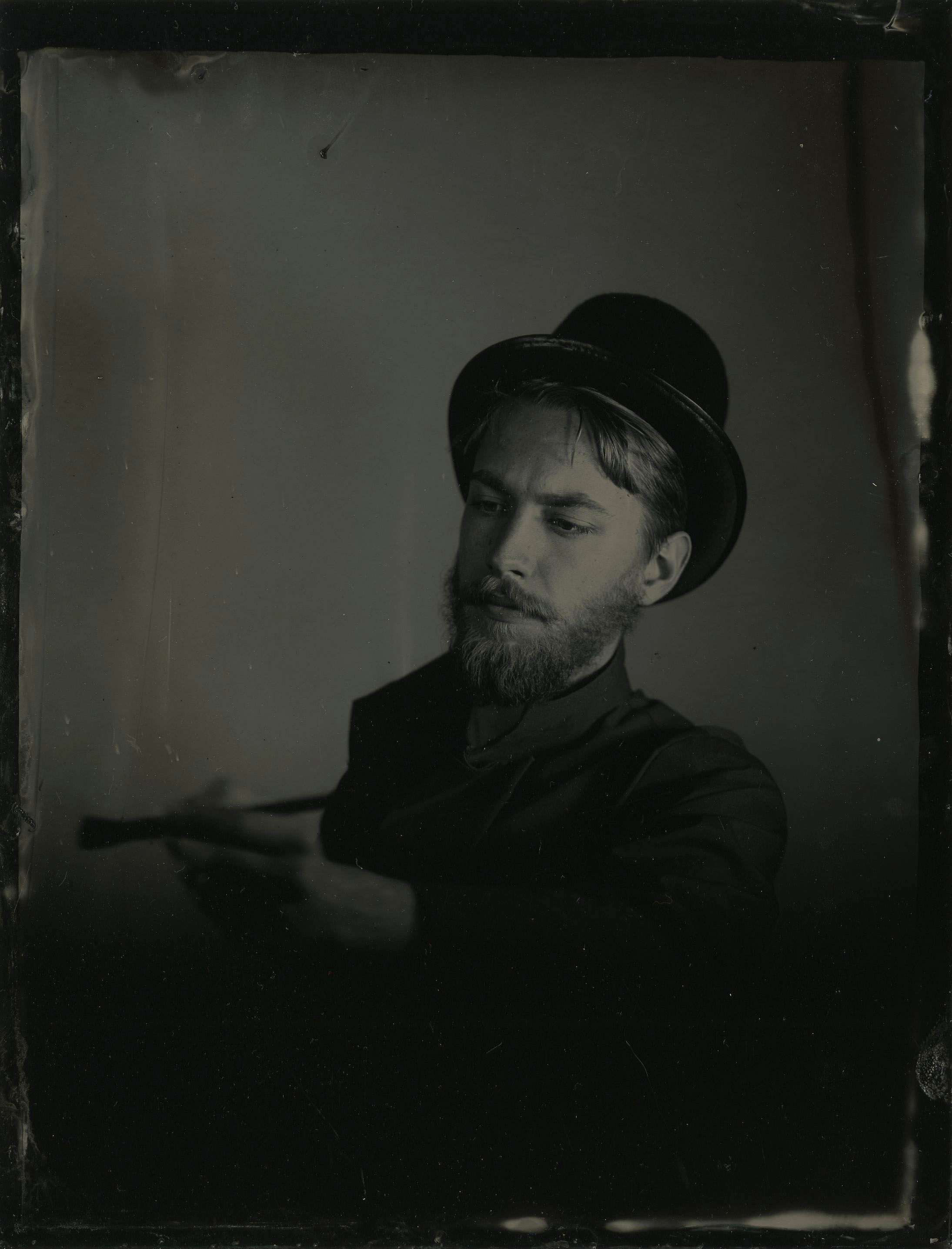 "8 x 10 tintype of ""Trilby"" Character"
