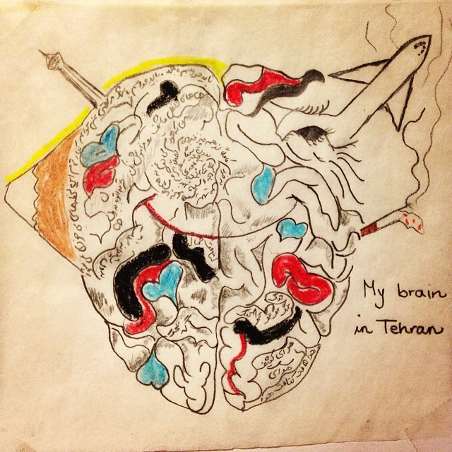 Brain no.1 - My brain in Tehran