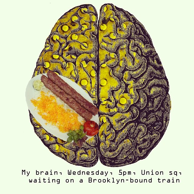Brain no.4 - Wednesday 5pm, Union sq, waiting on a Brooklyn-bound train
