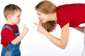 mom kid arguing