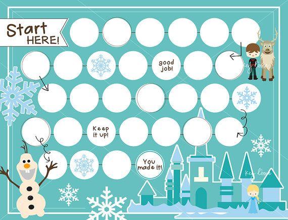 reward chart frozen theme