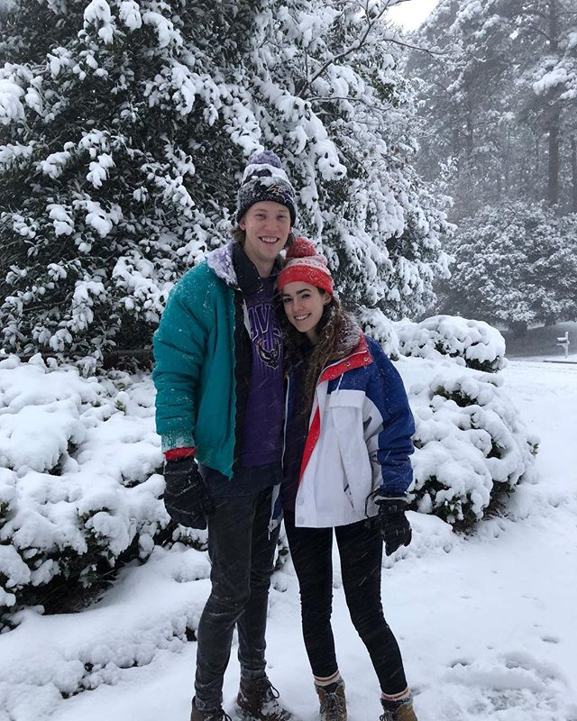 saw my first real snow and had my first snowball fight and made a snowman and went sledding. very thankful for this girl teaching a texas boy the ropes