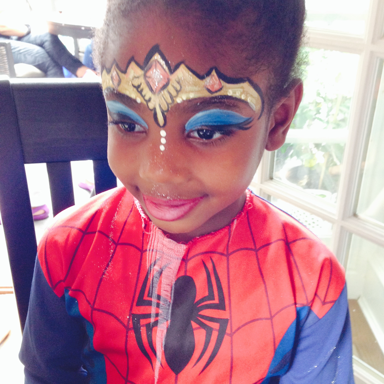 Face Paint - black girl spider man princess.jpg