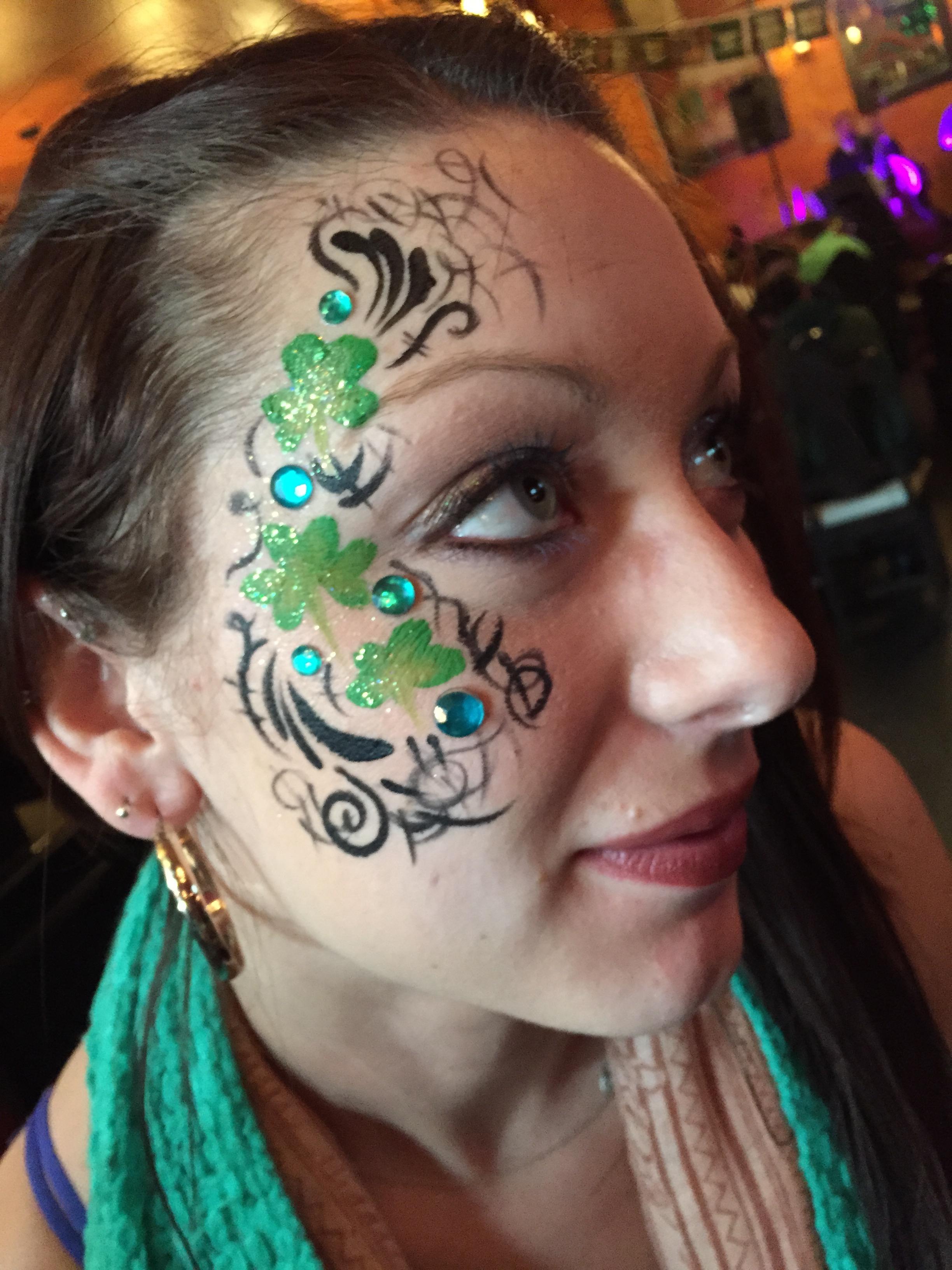 Adult Face Paint - shamrocks.jpg