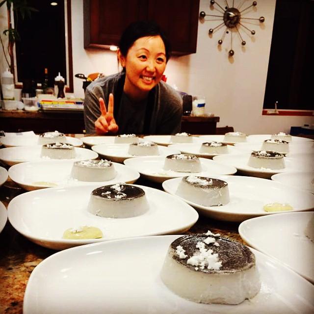 The chef and her amazing panna cota! @starrykitchen @phiferpavittwine @semolinaartisanalpasta @standardwax  (at Eat+Drink)