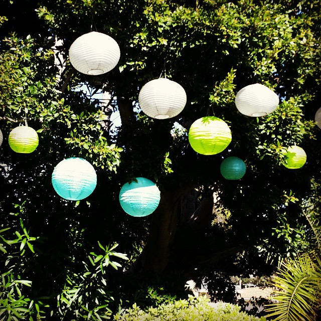 """We added a """"smidge"""" of color this year with our solar powered lanters for the Eat+Drink Supper Club.   I love ikea! (at Eat+Drink Supper Club)"""