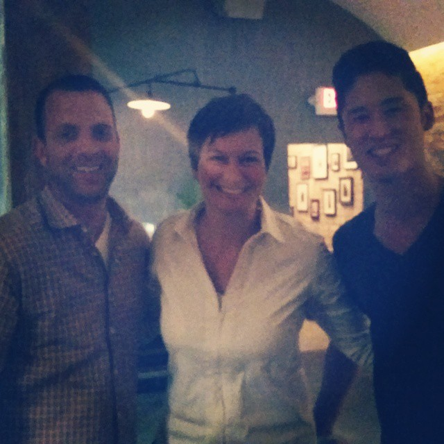 Me + @jeffweinstein1 + @ktominaga1.  Chef's and owners…love it! (at Cadet)