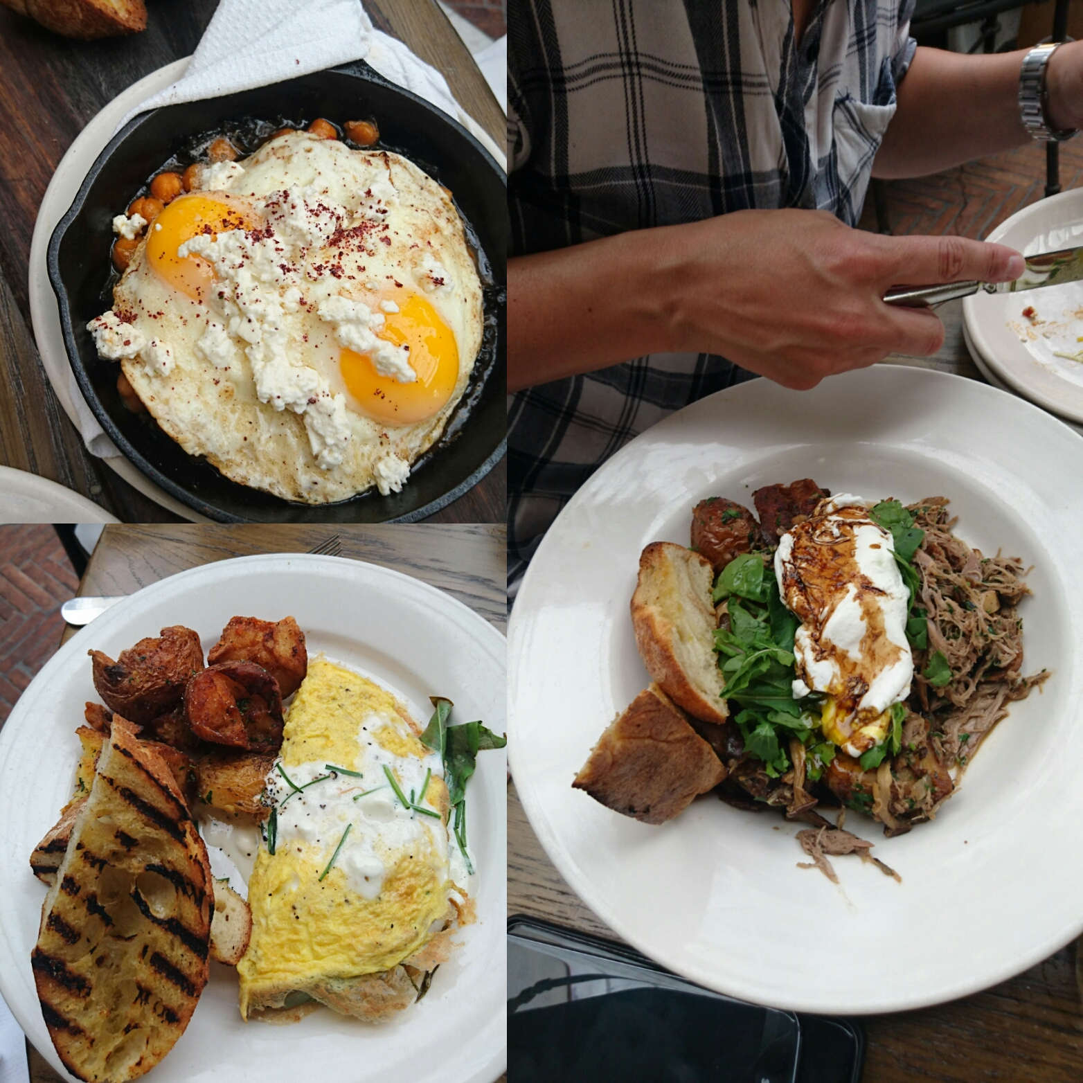 Bring your friends so you can sample the range of brunch items, from the simple omelete to the pulled pork!