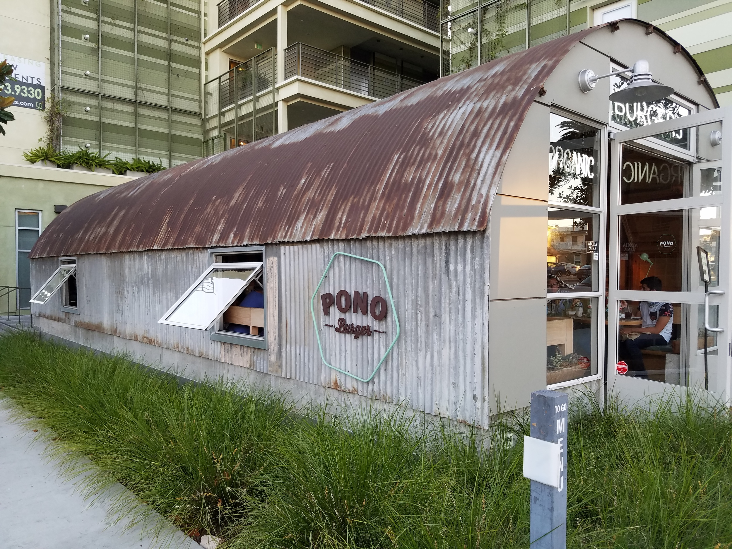 I love that part of Pono Burger is a Quonset Hut!
