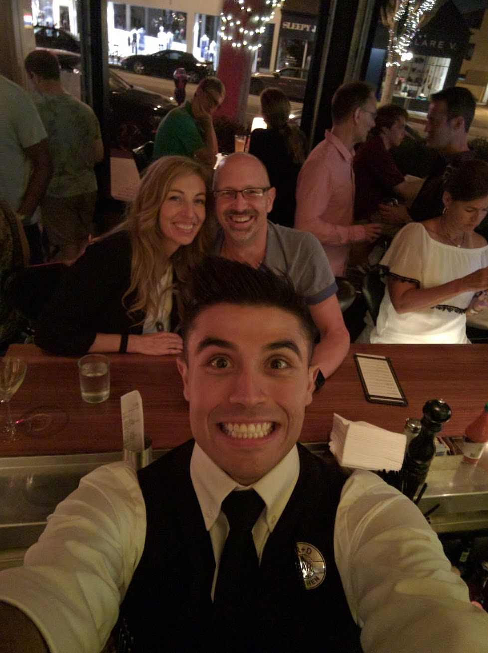 By sitting at the bar we interacted with the friendly staff, even getting our bartender to take an impromptu selfie.