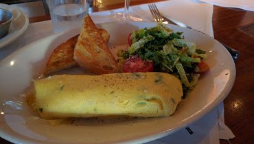 An omelete may be a simple choice, but delicious nonetheless.