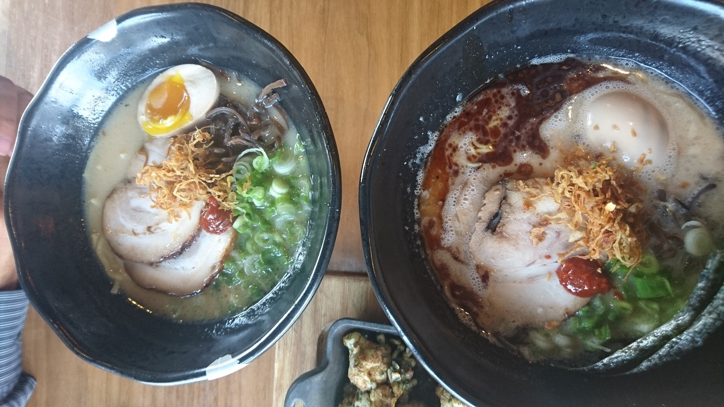 12 variations of ramen available - including pork, chicken, and vegetarian based broths.