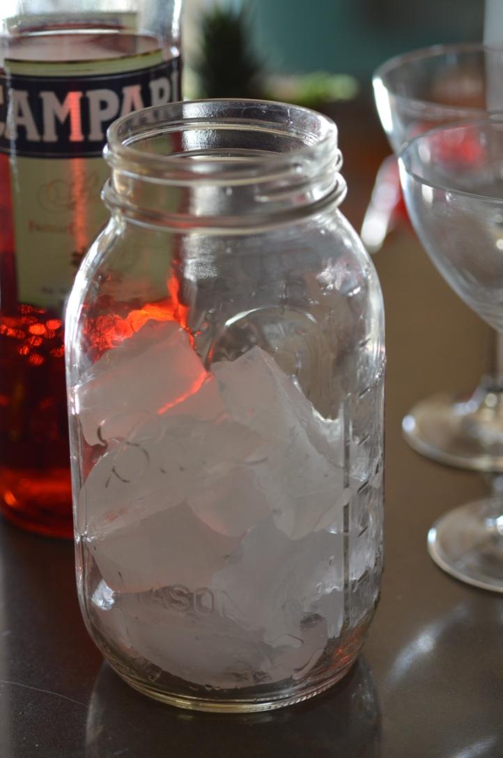 Ice in jar