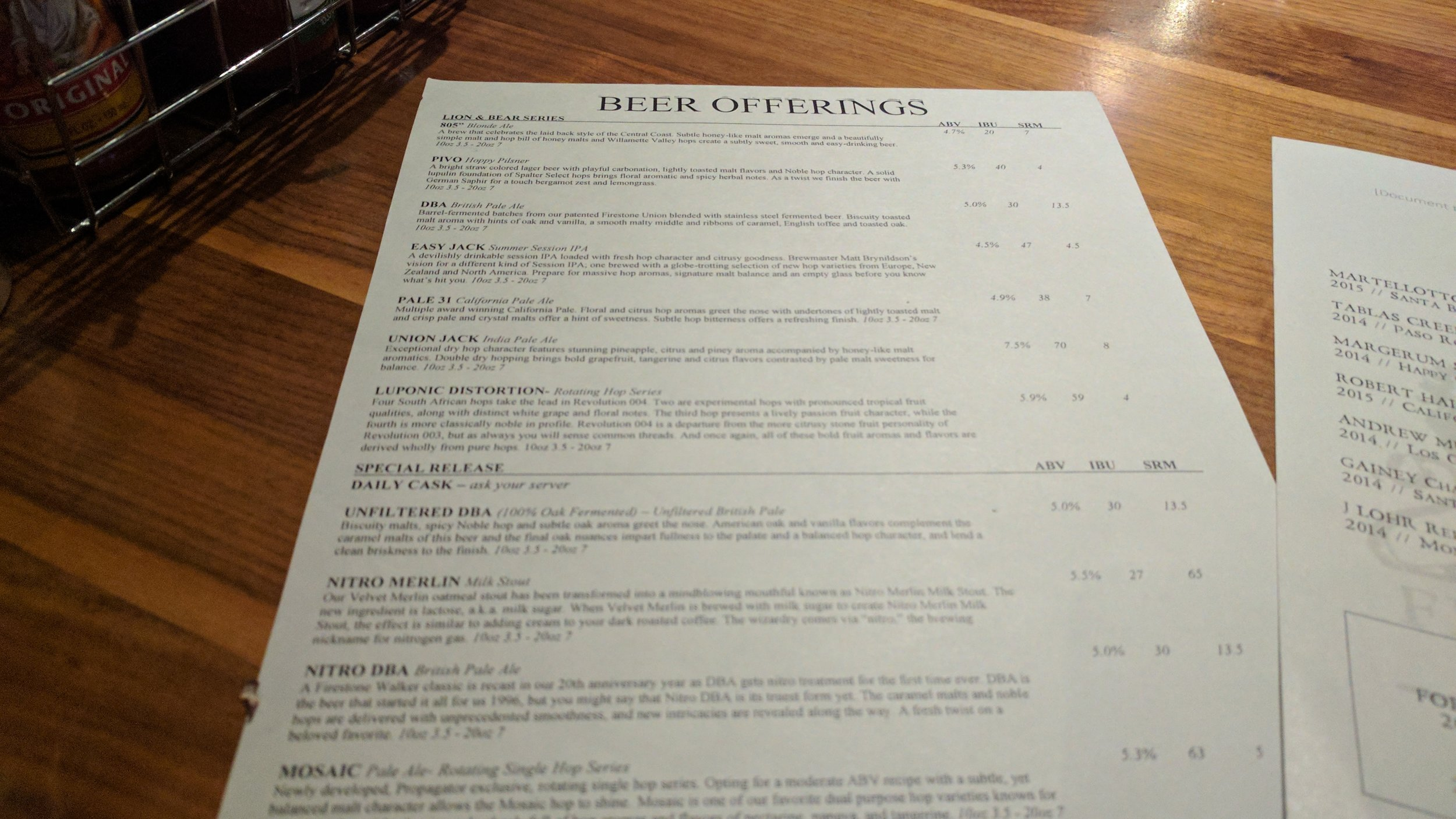 The beer offerings are very extensive with the menu providing a ton of detail that will help educate the casual beer drinker
