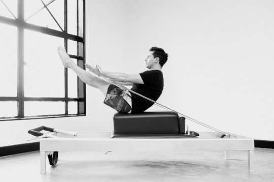 Trevor working tirelessly for the 'perfect' teaser at Proper Pilates Melbourne.