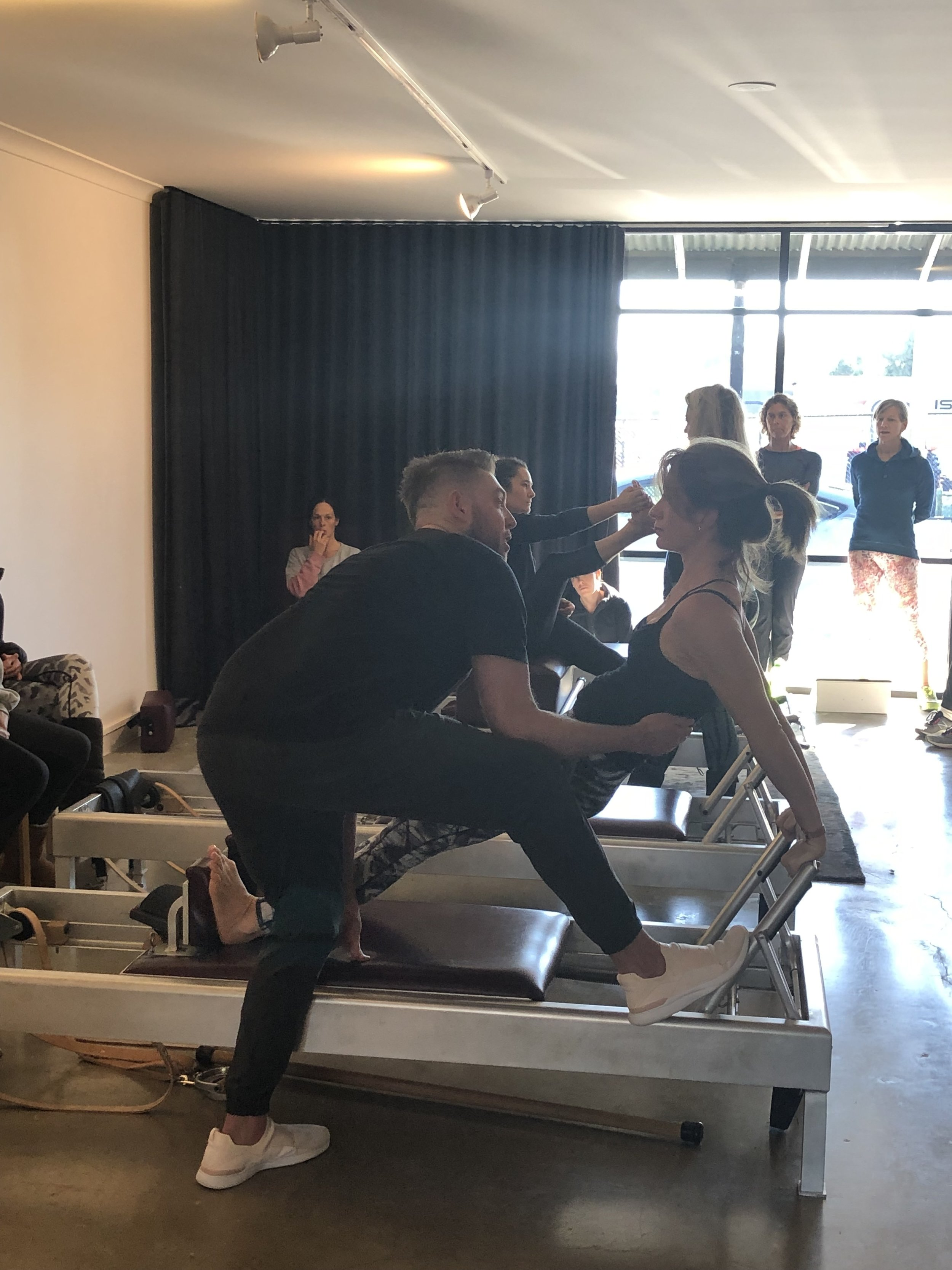 Trainees working hard for Proper Pilates Director Wade Edwell