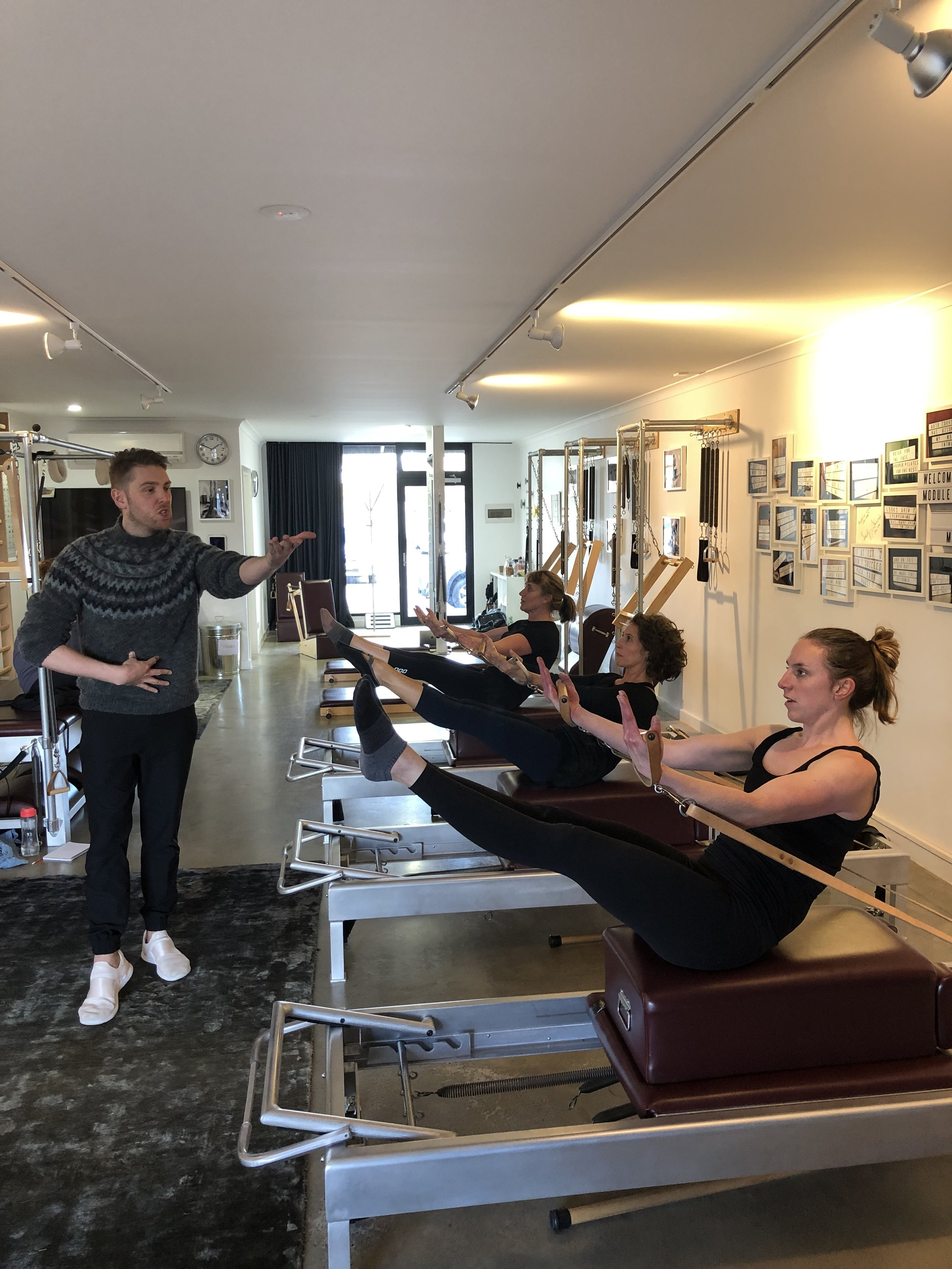 Proper Pilates mentees working hard for Wade Edwell
