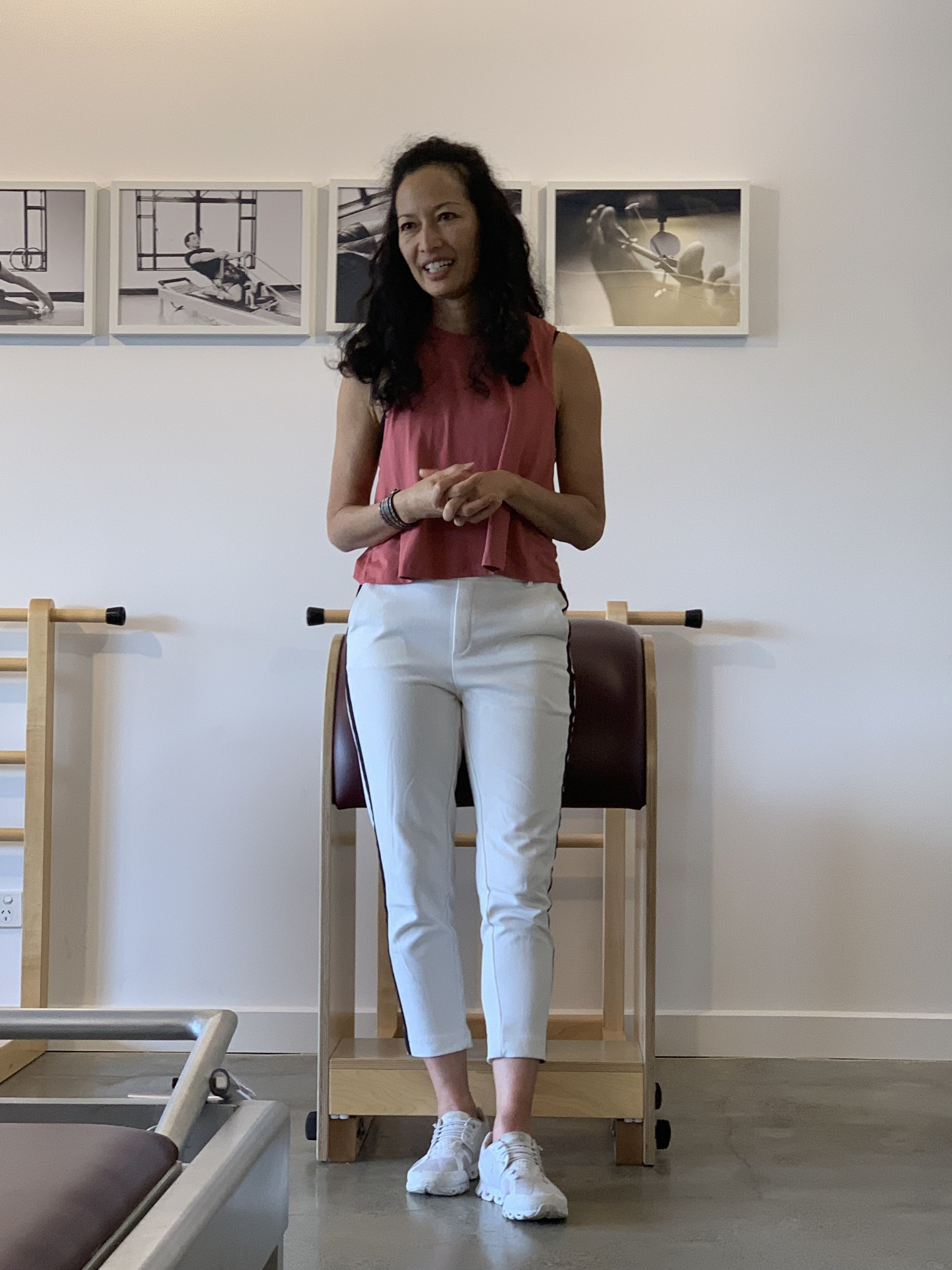 The incredible Sandy Shimoda (USA) visits Proper Pilates in 2018