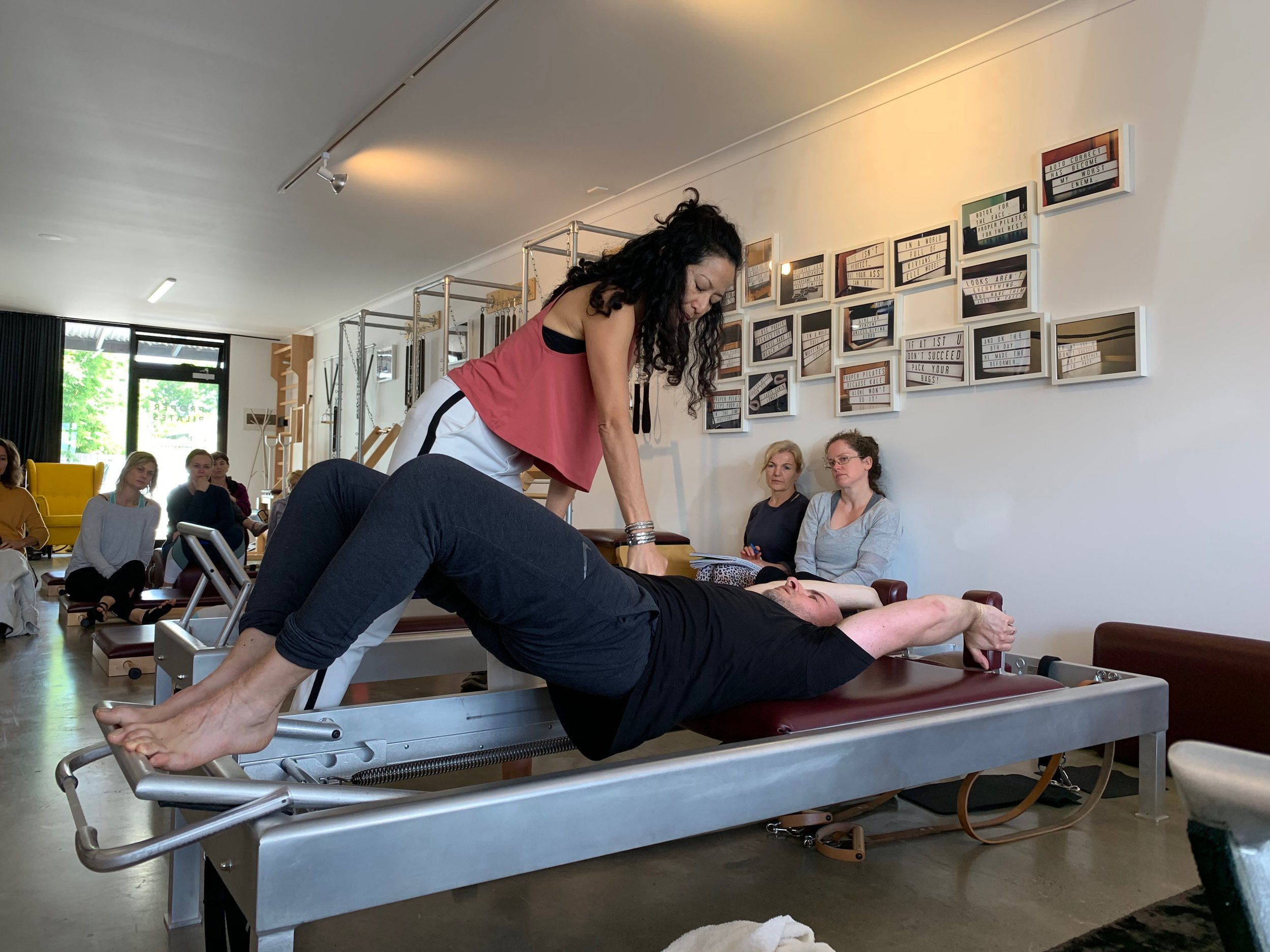 Sandy Shimoda (USA) getting right to the heart of things at Proper Pilates 2018