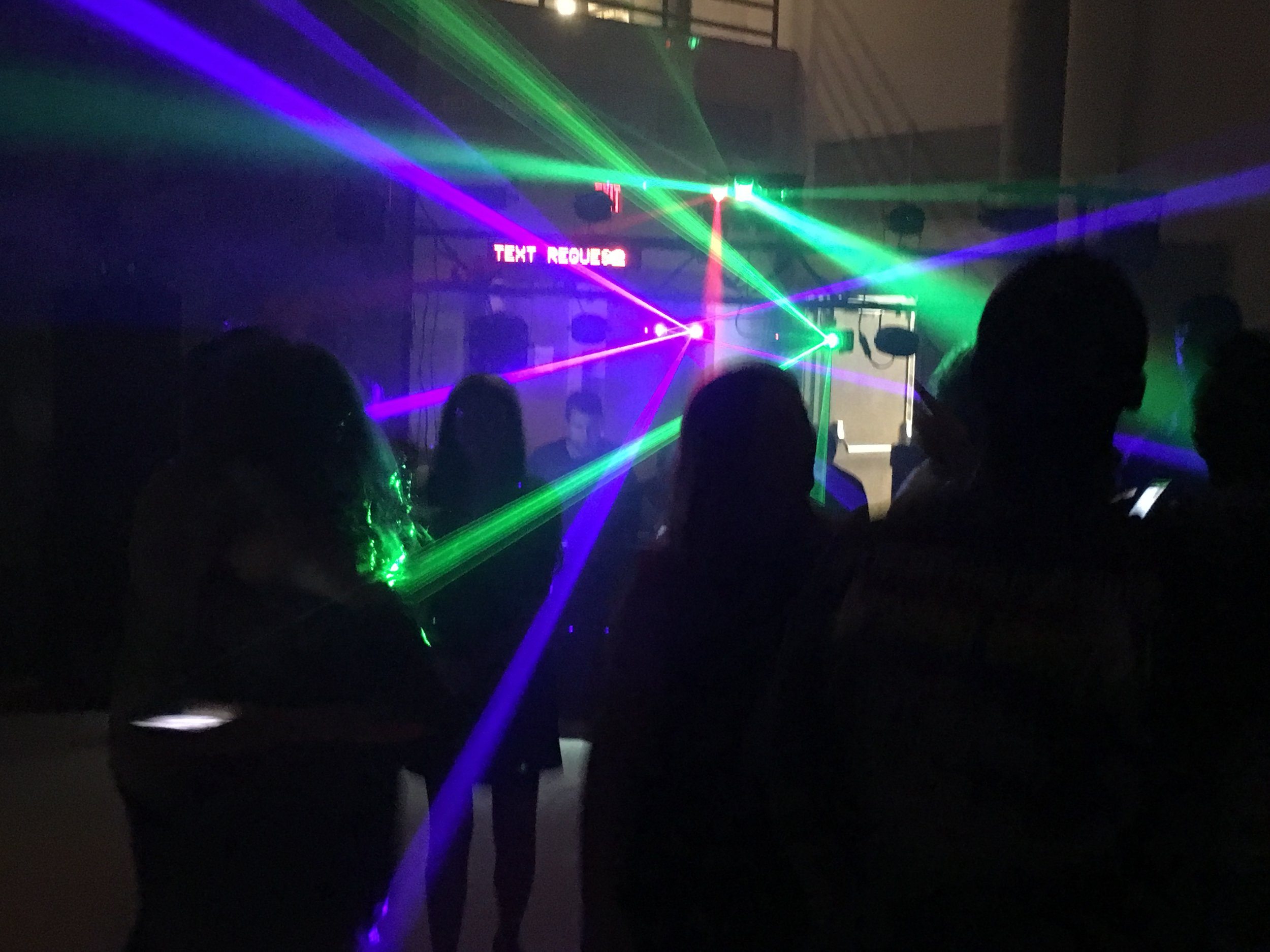 Dance Party with Fog Machine, Bubbles, and a Testing Request Line!